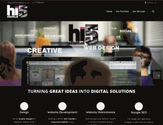 hi5digital.co.za screenshot