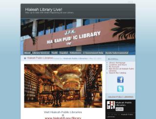 hialeahlibrary.wordpress.com screenshot