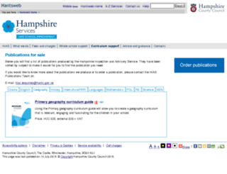 hias.hants.gov.uk screenshot