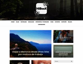 hiboox.es screenshot