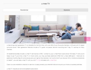 hibox.u-mee.com screenshot