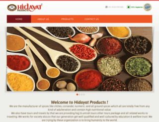 hidayatproducts.com screenshot