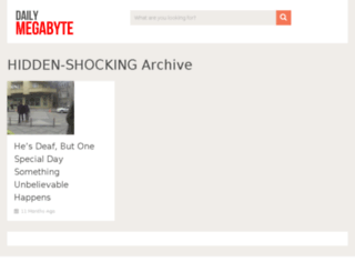 hidden-shocking.dailymegabyte.com screenshot