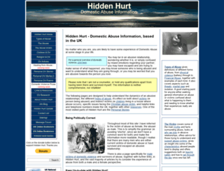 hiddenhurt.co.uk screenshot