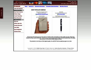 hiddenspygear.com screenshot