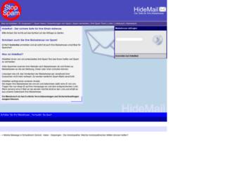 hidemail.de screenshot