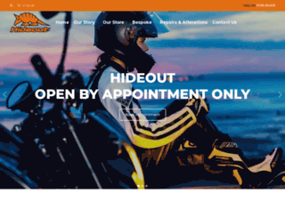 hideout-leather.co.uk screenshot
