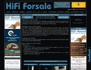 hifi-forsale.com screenshot