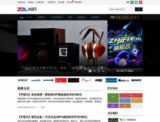 hifi.zol.com.cn screenshot