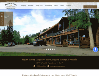 highcountrylodge.com screenshot
