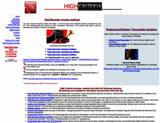 highcriteria.com screenshot