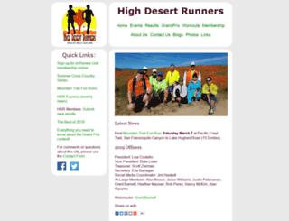highdesertrunners.org screenshot