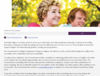 highered.gov.au screenshot