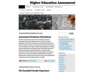 higheredassessment.wordpress.com screenshot