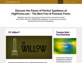 highfonts.com screenshot