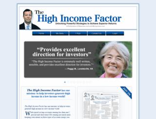 highincomefactor.com screenshot