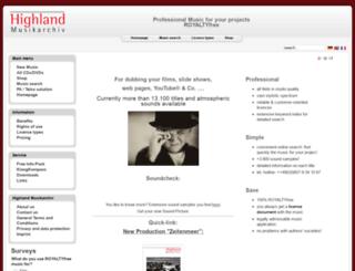 highland-musikarchiv.com screenshot