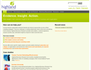 highlandbusinessresearch.com screenshot