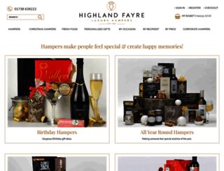 highlandfayre.co.uk screenshot