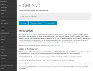 highlandjs.org screenshot