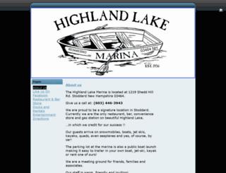 highlandlakemarina.com screenshot