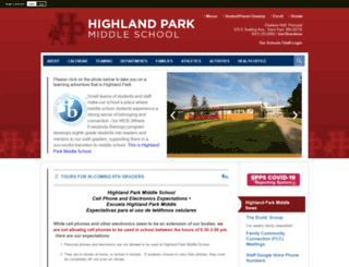 highlandms.spps.org screenshot