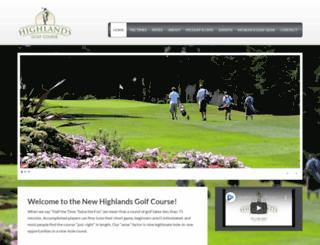 highlandsgolf.net screenshot