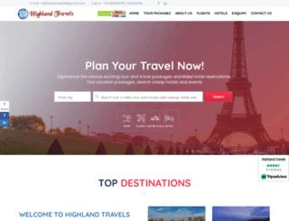 highlandtravels-tours-india.com screenshot