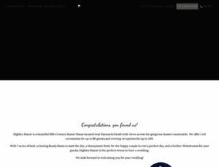 highleymanorhotel.co.uk screenshot