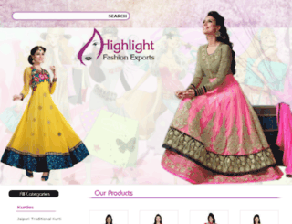 highlightfashionexport.com screenshot