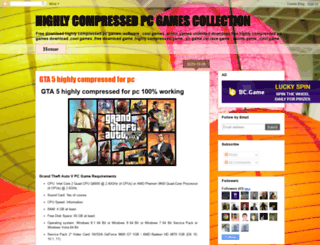 highlycompressedgamespc.blogspot.in screenshot