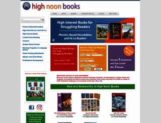 highnoonbooks.com screenshot