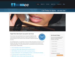 highriskcc.com screenshot