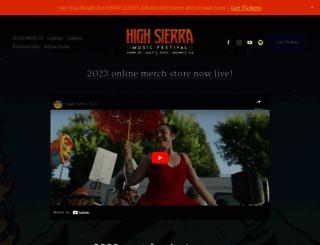 highsierramusic.com screenshot