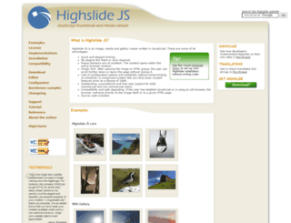 highslide.com screenshot