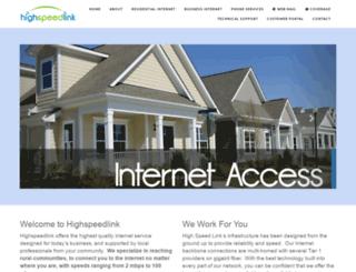 highspeedlink.net screenshot