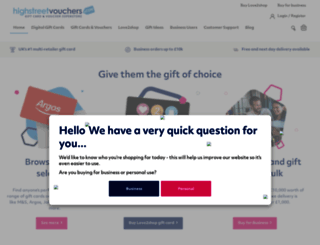 highstreetvouchers.com screenshot