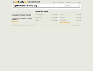 hightrafficacademy2.org.wenotify.net screenshot