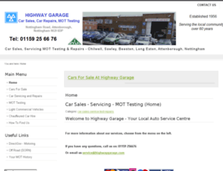 highwaygarage.co.uk screenshot