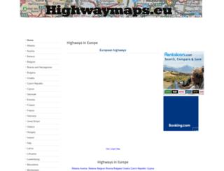 highwaymaps.eu screenshot