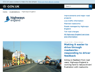 highways.gov.uk screenshot
