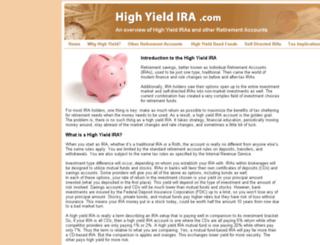 highyieldira.com screenshot