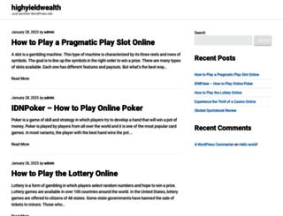 highyieldwealth.com screenshot