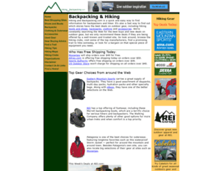 hikingandbackpacking.com screenshot