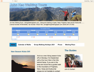 hikingwalkingspain.com screenshot