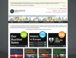 hilditchauctions.co.uk screenshot
