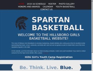 hilhigirlsbasketball.com screenshot