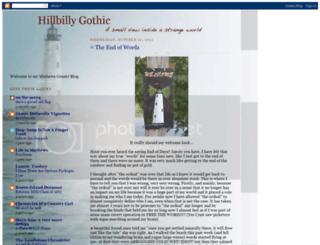 hillbillygothic.blogspot.com screenshot