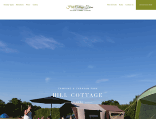 hillcottagefarmcampingandcaravanpark.co.uk screenshot