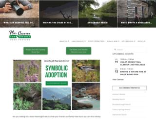 hillcountryconservancy.org screenshot